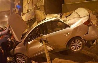 وفاة المصابين الاثنين في حادث سقوط سيارة من أعلي محور صفط اللبن