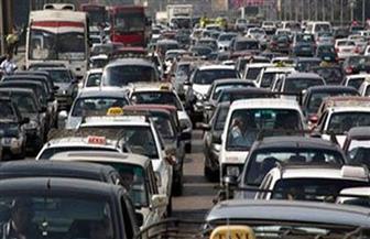 كثافات مرورية بكوبرى عباس والأوتوستراد والدائري
