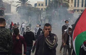 """""""شدوا الرحال إلى فلسطين"""" مظاهرة لبنانية أمام سفارة أمريكا.. والأمن يفرقها بقنابل الغاز  فيديو"""