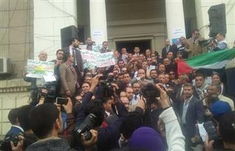 """وقفة لـ""""نقابة المحامين"""" للتنديد بقرار نقل السفارة الأمريكية للقدس"""