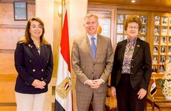 غادة والي تبحث مع سفير كندا الاستفادة من تجربة بلاده في مجال الإعاقة
