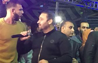 """مجد القاسم وليلى غفران يقدمان عددًا من الأغاني في حفل تدشين حملة """"كلنا معاك من أجل مصر"""" بإستاد كفر الشيخ"""