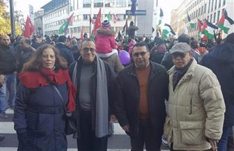 وقفة احتجاجية للجالية المصرية بإيطاليا ضد نقل السفارة الأمريكية للقدس | صور