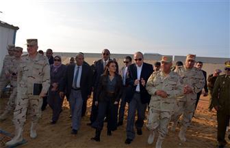 وزيرة الاستثمار وكامل الوزير يتفقدان المنطقة الاستثمارية بمدينة بنها   صور