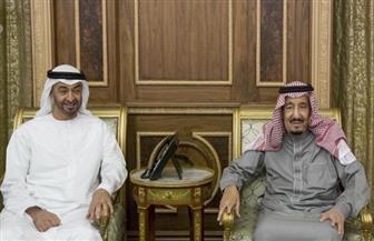 محمد بن زايد  يبحث مع الملك سلمان تطورات أوضاع المنطقة