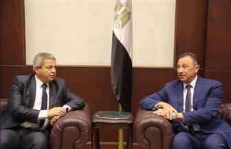 وزير الرياضة يستقبل رئيس النادي الأهلي