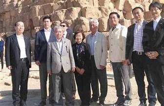 """رئيس """"الشيوخ الياباني"""" في زيارة لـ""""خوفو"""": ندعم مشروع الترميم المتميز"""