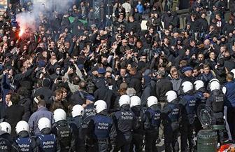 مظاهرة مؤيدة للمهاجرين في بروكسل قبيل قمة الاتحاد الأوروبي