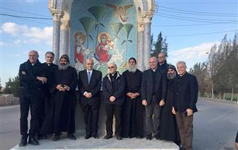 وفد الفاتيكان يتفقد مسار العائلة المقدسة بمصر ويزور وادي النطرون   صور