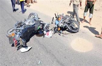 """إصابة 4 أشخاص في تصادم دراجتين ناريتين بـ""""فيشا سليم"""" بطنطا"""