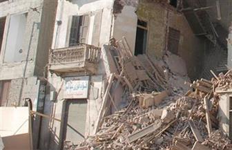 سقوط أجزاء من عقار قديم باللبان غرب الإسكندرية