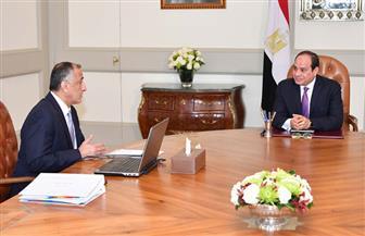 الرئيس يجتمع مع محافظ البنك المركزى ويؤكد أهمية توفير التمويل لشبكات الحماية الاجتماعية