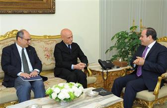 الرئيس السيسي يستقبل وزير داخلية إيطاليا
