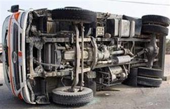انقلاب سيارة ربع نقل ومصرع مواطنين وإصابة 22 آخرين بالفيوم
