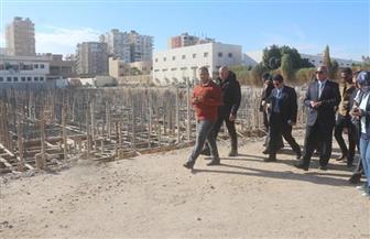 محافظ السويس يتفقد الإنشاءات بمستشفى الصدر الجديد   صور