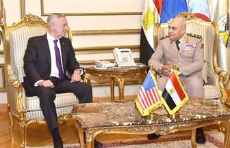 وزير الدفاع يستقبل نظيره الأمريكي لبحث الحرب على الإرهاب والأوضاع بالمنطقة