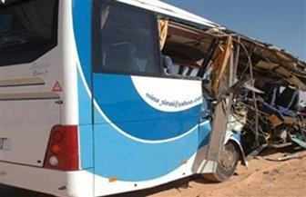 إصابة ٦ أشخاص فى حادث تصادم مقطورة بأتوبيس بطريق الإسماعيلية الصحراوي