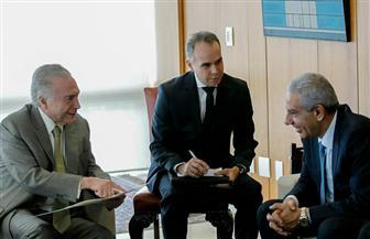 وزير الصناعة يُسلم رئيس البرازيل رسالة من السيسي