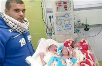 """فلسطيني يسمّي توائمه """"قدس..عاصمة..فلسطين"""" ..وينتظر """"أبدية"""""""