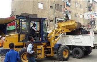 إزالة الإشغالات بشارع يحيى في السويس| صور