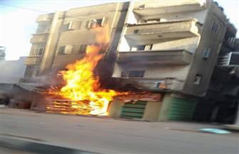 ماس كهربائي يتسبب في حريق مخبز بالدقهلية