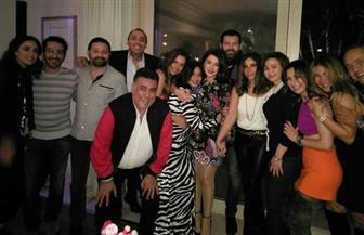 منى زكي وأحمد حلمي وشيرين عبدالوهاب يحتفلون بالكريسماس
