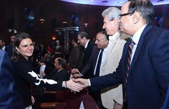 سحر نصر تصل إلى الأهرام لحضور مؤتمر إطلاق إستراتيجية 2025