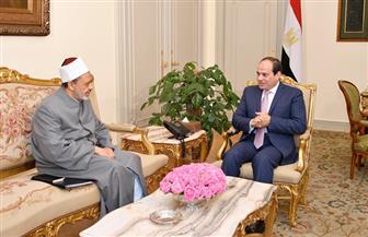 الرئيس السيسي يستقبل الإمام الأكبر ويبحثان جهود الأزهر في نشر صحيح الدين الإسلامي