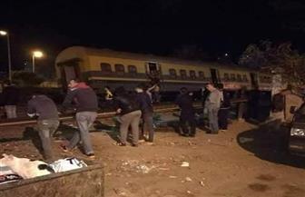 خروج قطار أبو قير عن القضبان شرقي الإسكندرية   صور