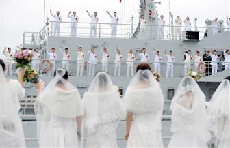 حفل زفاف جماعى لأفراد البحرية الصينية