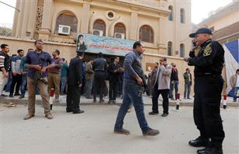 المئات يشيعون شهيد حادث حلوان الإرهابى في القليوبية