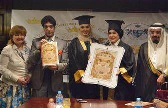 درع التميز والإبداع لرئيسة الاتحاد العربى لمكافحة التزييف والتزوير|صور
