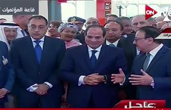 """الرئيس السيسي يفتتح معرض القاهرة الدولي للاتصالات.. ويستمع لشرح """"القاضي"""" عن تقنيات الجيل الخامس"""