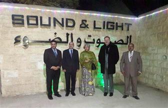 """نائبة السكرتير العام لـ""""الأمم المتحدة"""": الصوت والضوء بالأهرامات رحلة رائعة عبر الزمن"""