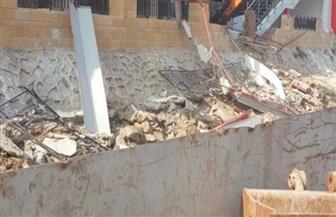 وزارة الري تزيل تعديات نادي الزمالك على نهر النيل بالجيزة