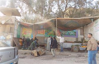 حي الهرم يشن حملة لإزالة الإشغالات بطريق مصر الفيوم |صور