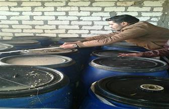 ضبط 7 أطنان زيتون مصبوغ وملح متكتل بمصنع بالمنصورة