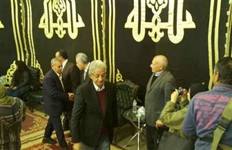 عمرو موسى وفخري عبدالنور في عزاء الكاتب الصحفي صلاح عيسى