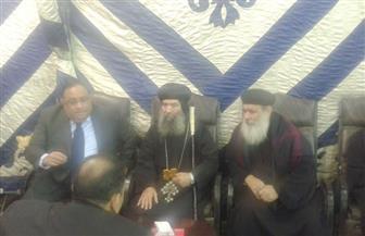 رئيس جامعة حلوان من كنيسة العذراء: رصاص الإرهاب الغادر لم يفرق بين مسلم ومسيحي| صور