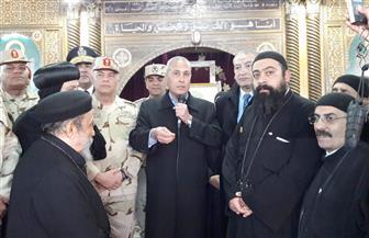 محافظ السويس وقائد الجيش ومدير الأمن يتفقدون تأمين الكنائس
