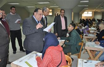 رئيس جامعة حلوان يتفقد سير الامتحانات بالكليات| صور