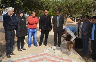 رئيس مدينة مطوبس يتفقد تطوير حديقة قناطر إدفينا