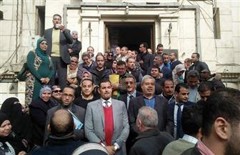 وقفة احتجاجية بنقابة المحامين للمطالبة بتنفيذ حكم إلغاء ضوابط القيد