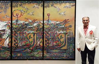 التجريب وميراث الحضارة في معرض استعادي للتشكيلي عبد المنعم معوض | صور