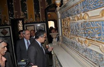 وزير الآثار يتفقد حوش الباشا وباب الوزير ويوصي بتقديم الحلول لمشكلة المياه الجوفية | صور