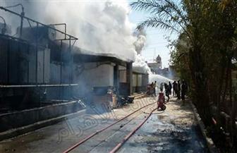 ماس كهربائي يتسبب في نشوب حريق بكشك خشبي بمنطقة المجزر في المنصورة