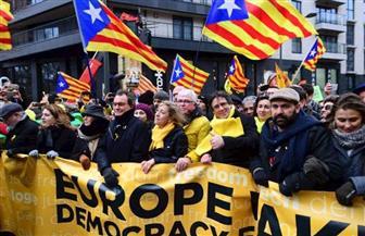 عشرات الآلاف يشاركون في مظاهرة لدعم استقلال كتالونيا في بروكسل