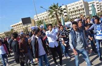 مسيرة-طلابية-بجامعة-الفيوم-ضد-قرارترامب- -صور