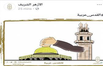 """صفحة الأزهر على """"فيسبوك """"ترفع علم فلسطين والقدس عربية"""