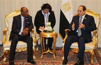 الرئيس السيسي يستقبل رئيس غينيا بشرم الشيخ